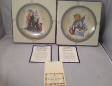 "Schmid 1981 Christmas Plate ""A Time to Remember"" &1983 Angelic Messenger Hummel"