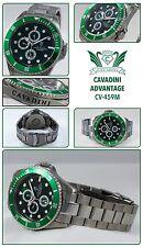 Divers Cavadini GMT Full Calendar Watch 30 Bar Waterproof Solid in Green NEW