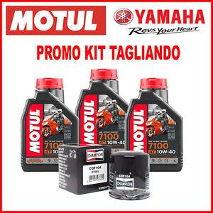 TAGLIANDO 3 LT OLIO MOTUL 7100 10W40 E FILTRO PER YAMAHA MT-09 MT 09 2019 2020