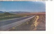 Sunset on Highway Between Las Vegas and Boulder City Nevada Chrome Postcard 1207
