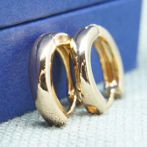 18k Gold plated huggie hoop 13mm sleeper earrings Non-allergenic AUS MADE