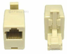Rj45 Crossover Cat5e Red Ethernet Adaptador Convertidor Macho A Mujer