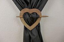 Dekospange Gardinen Spange Raffhalter Herz 18 cm Herz Holz