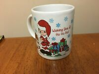 "Precious Moments by Enesco Christmas Mug- Santa- ""Wishing you a Ho, Ho, Ho!"""