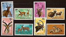 Ruanda- Serie Neu n° 614-621 Pflanzenfresser: Antilope Elands Maiskolben