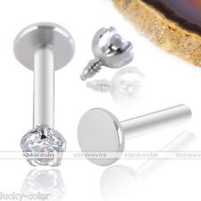 Ear Cartilage Stud Earring Steel Piercing Punk 16g Cz Gem Tragus Lip Ring Monroe