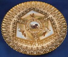 Antique 19thC Copeland Spode Porcelain Bird Scene Plate Porzellan Teller Scenic