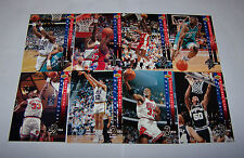 1993/94 Upper Deck All-NBA Teams Partial Set 8-Card Insert Lot Mint Condition