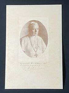 Very RARE Apostolic Blessing w/ Photo Signed by Pope St. Pius X, 1903-14