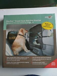 "NIB Solvit Sta-Put Front Seat Net Pet Barrier 32""  x 32"" Micro Mesh Claw Proof"