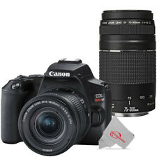 Canon Eos Rebel Sl3 Dslr Camera with Canon 18-55mm and 75-300mm Lens (Black)