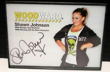RARE OLYMPIC GOLD MEDALIST SHAWN JOHNSON AUTOGRAPHED WOODWARD CARD VG CONDITION