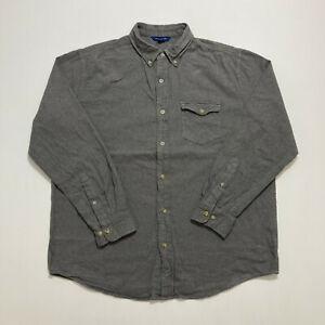 Falls Creek Mens Flannel Shirt Size L Casual Long Sleeve Shirt Button Up