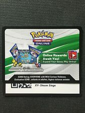 Pokemon XY Steam Siege TCG online code cards (12 count)