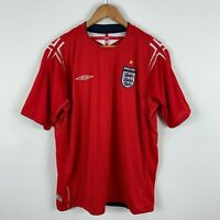 Umbro England Football Soccer Jersey 2004-2006 Mens XL Short Sleeve Retro