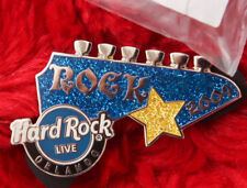 Hard Rock Cafe Pin Orlando Live GUITAR HEAD headstock blue logo lapel hat le300