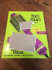 Bed Head One-Step Hair Dryer and Volumizer Hot Air Brush, Violet. Revlon One
