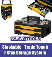 2 DRAWER MULTI STORAGE PARTS/SCREW TOOLS STACKABLE T STAK CARRY CASE CABINET SP