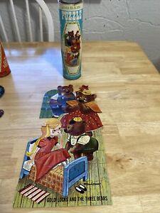 Vintage Goldilocks And The Three Bears  Hg Toys Jigsaw Puzzle 50 PCs.