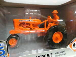 Ertl ALLIS-CHALMERS WC Orange Tractor w/Farmer 1/16 PRESTIGE ERTL 75 Years