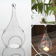 6X Succulent Style Glass Hanging Tea Lights Holder Stand Party Christmas Bauble