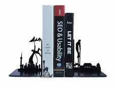 DC Hero Iron Man Tony Batman Fight Steel Bookrack 3d Bookends Shelf Book End