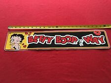 BETTY BOOP WAY TIN METAL SIGN King Feature Syndicate 2000 KFS Wall Home Decor