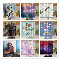 Lion With Rainbow Hair Constellation Bathroom Fabric Shower Curtain Set 71Inches