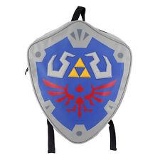 The Legend Of Zelda Hylian Backpack Triforce Shield Shaped Book Bag Shoulder bag