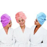 Towelogy® 2 & 3 Pcs Quick Dry Hair Turban Microfibre Twist Wrap Turbie Cap Towel