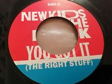 "NEW KIDS ON THE BLOCK * YOU GOT IT ( THE RIGHT STUFF ) * 7"" SINGLE VG 1989"