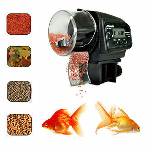 4 Times Timer LCD Automatic Manual Aquarium Tank Pond Fish Food Feeder Feeding