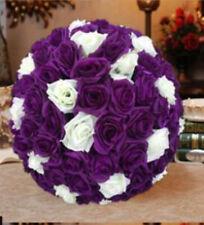 Purple & Ivory Rose Flower Pomander Wedding Kissing Ball11-12 inches USA Seller