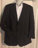 BROOKS BROTHERS Men's Gray Herringbone Plaid Wool Blazer Sport Coat SZ 42R