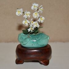 dollhouse miniature flowers 1:12 potted with wooden stand