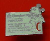 Small Used Disney Enamel Pin Badge Fantasyland Cast Lanyard Series 2005