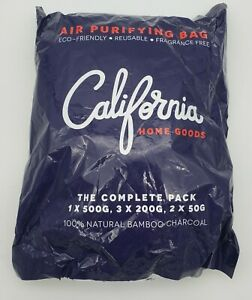 6 Pack Natural Bamboo Charcoal Air Purifying Bags