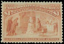 US SCOTT #241, Mint-VF-Regummed, A Lovely Columbian Stamp from garyposner!