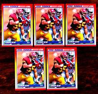 1990 Score JUNIOR SEAU (RC) ~ 5 CARDS LOT ~  USC / CHARGERS / PATS  HOF