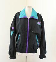 Vtg 90s Polaris Color Block Windbreaker Jacket Size S Black Purple