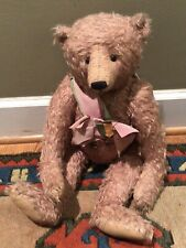 "Beautiful Pink Mohair Teddy Bear OOAK artist  by Brown Shop Bears 21""only 2 Made"