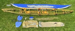POUCH Boot FALTBOOT RZ 85-2 Kajak Paddelboot Reisezweier - blau - DDR - komplett