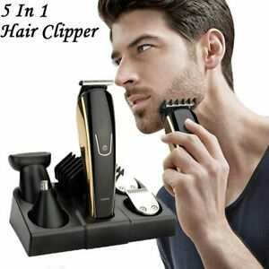 5 in 1 Electric USB Trimmer Shaver Men's Hair Clipper Beard Machine Kits Tools