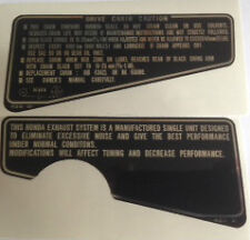 HONDA CBX CBX1000 CBX1000Z FOOTREST BRACKET CAUTION WARNING DECALS UK SPEC