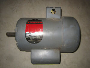 Rockwell Delta 1 1/2 hp electric motor single phase 3250 rpm 115/230v TEFC