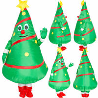 US!Adults Christmas Tree Inflatable Halloween Xmas Party Blow up Cosplay Costume