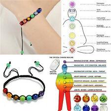 7 Chakra Healing équilibre perles Bracelet Yoga vie énergie Bracelet Bijoux