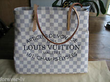 RARE NWT LIMITED LOUIS VUITTON CABAS NEVERFULL MM DAMIER AZUR ADVENTURE BAG