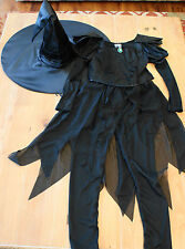 New Disney Store Wicked Witch of the West Oz Costume & Witch Hat M (7/8)