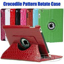 Crocodile Leather Case Smart Cover for iPad 4,3,2